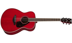Yamaha FS820BL Folk Spruce Top Acoustic Guitar - Ruby Red